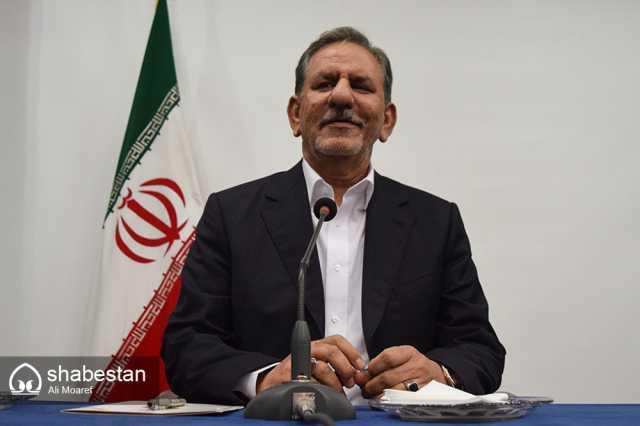 بازدید اسحاق جهانگیری از نمایشگاه کتاب تهران پس از خروج آمریکا از برجام
