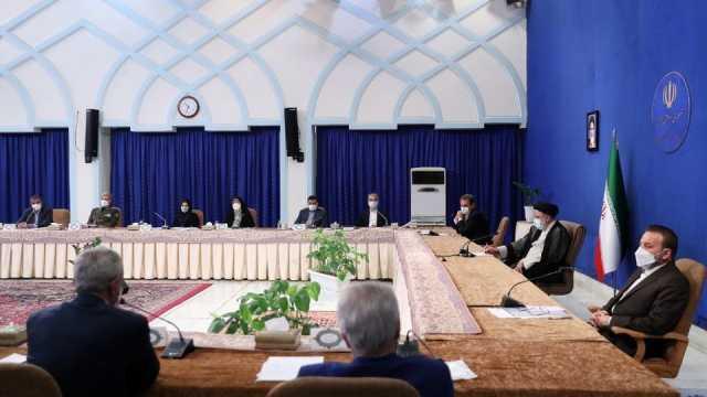 حضور آیت الله رئیسی در جلسه هیئت دولت