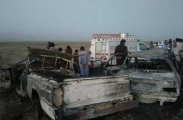 تصادف خونین در جاده سراوان به خاش/ ۶ نفر در آتش سوختند