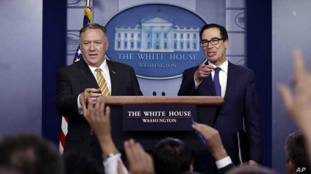 منوچین و پومپئو خبر از ادامه فشار حداکثری بر ایران پس از «بولتون» دادند!