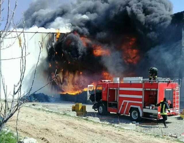 شعله های آتش بیمارستانی را بلعید