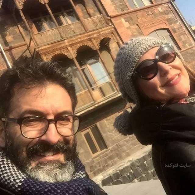 عکس لاله اسکندری و همسرش در خارج