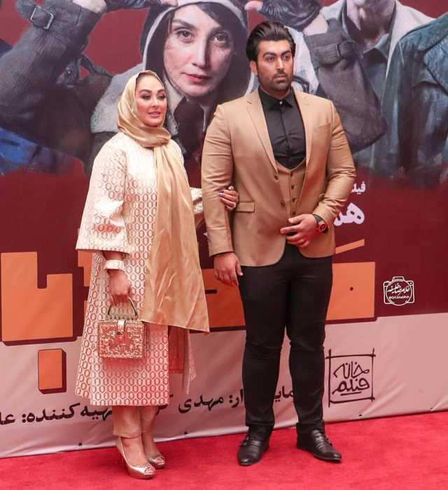 الهام حمیدی و شوهرش + عکس