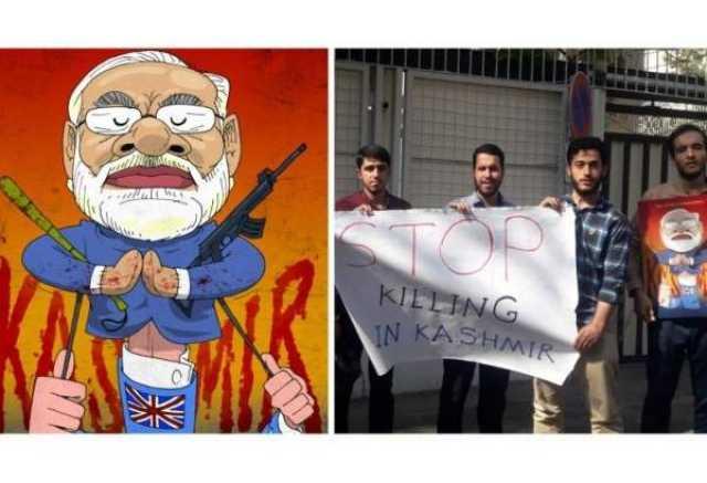 هدیه نمادین دانشجویان ایرانی به سفارت هند در تهران