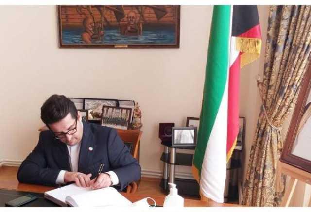 سفیر ایران در باکو دفتر یادبود امیر فقید کویت را امضا کرد