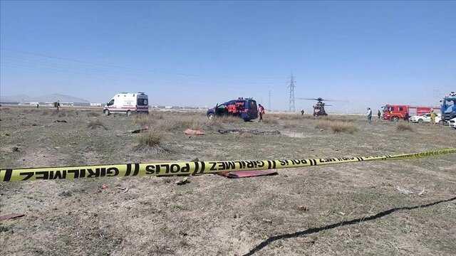 کشته شدن خلبان نظامی ترکیه در پی سقوط یک فروند جت نمایشی