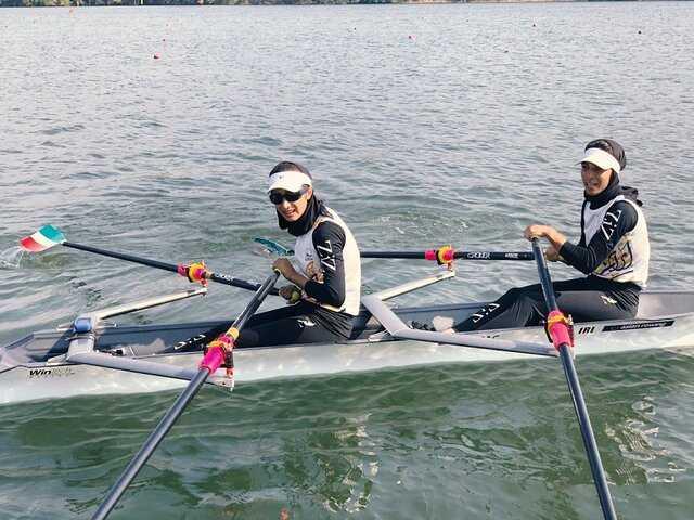 روئینگ انتخابی المپیک/ قایق دو نفره زنان ایران سوم شد