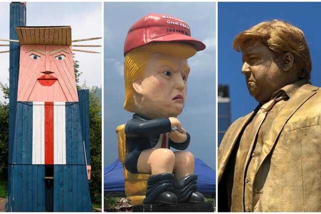 ترامپ، سردمدار مجسمههای مضحک