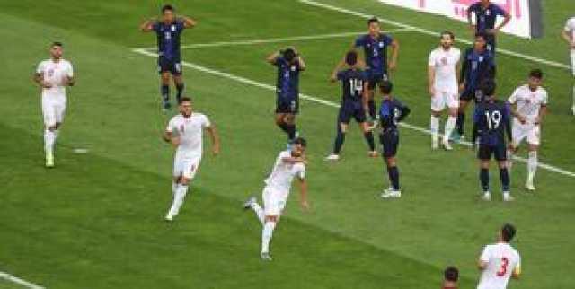 برتری پر گل ایران برابر کامبوج در نیمه اول