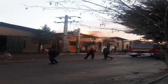 مهار آتشسوزی در شرکت داواخگر زنجان - تابناک