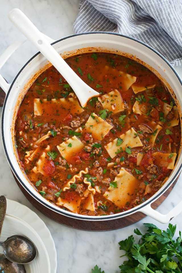 دستور تهیه سوپ لازانیای متفاوت و خوشمزه