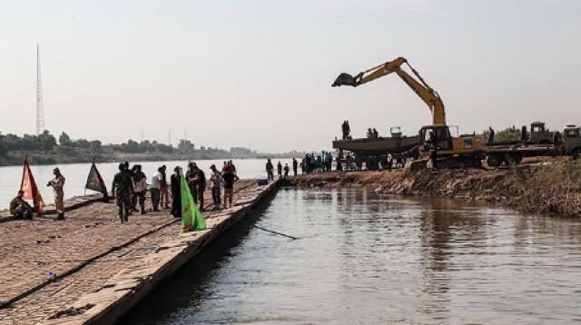 پل شناور دهستان عنافچه به ملاثانی توسط ارتش بازسازی شد