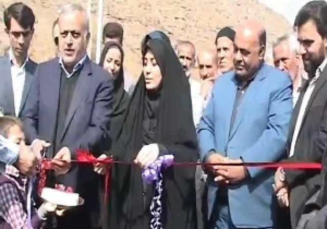 افتتاح چند طرح عمرانی و آبرسانی در الموت شرقی