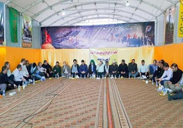 برگزاری شورای اداری شهرستان حمیدیه در مواکب مرز چذابه