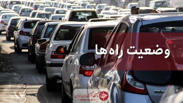 ترافیک در ورودیهای مازندران سنگین است