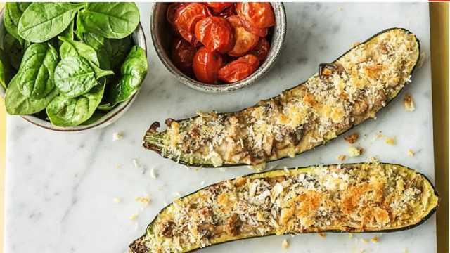 طرز تهیه کدو کبابی مزه دار شده به سبک ایتالیایی