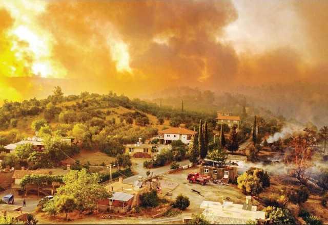 آتش در بهشت اروپا