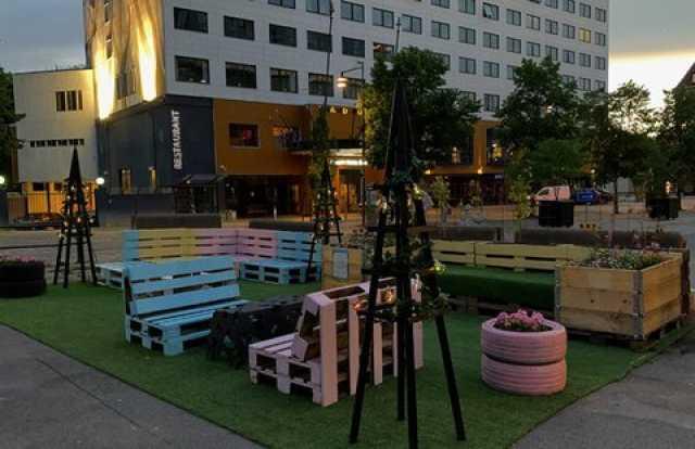 احداث پارک جیبی در سوئد با مواد بازیافتی