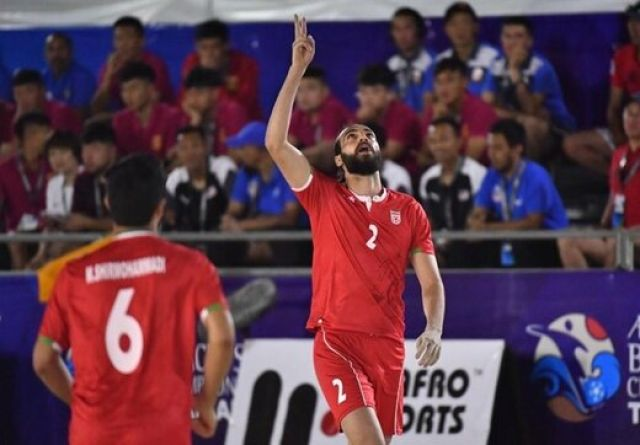 ساحلیبازان با شکست امارات میزبان، فینالیست شدند