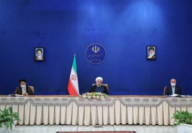 تصویری از قالیباف و روحانی در جلسه شورایعالی هماهنگی اقتصادی