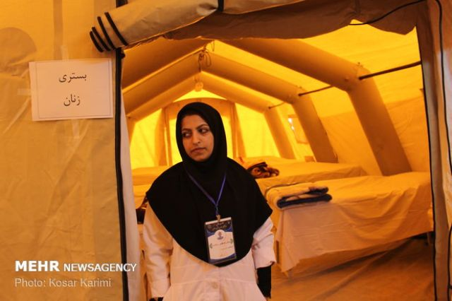 بیمارستان صحرایی در شلمچه برپا شد