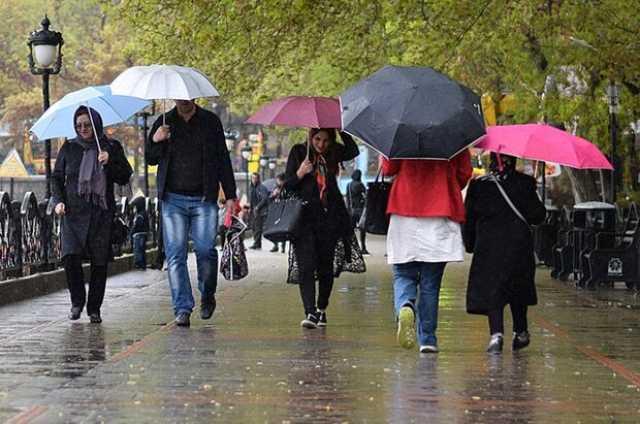 آخر هفته بارانی در شمال کشور/بارندگی در تهران از یکشنبه