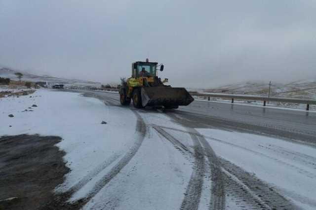 بیش از ۳۰۰۰ محور روستایی کرمانشاه درگیر بارش برف بوده است