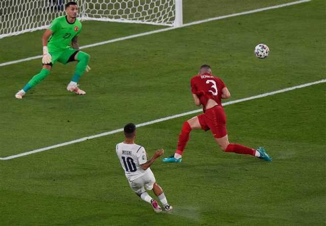 یورو ۲۰۲۰| تساوی ایتالیا و ترکیه در نیمه اول