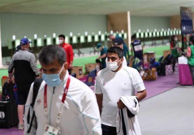 المپیک ۲۰۲۰ توکیو| فروغی، سوژه عکاسان خارجی در مسابقه میکس تپانچه+ عکس