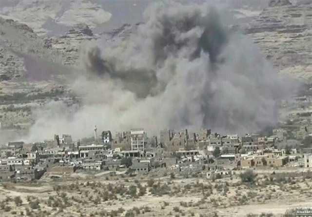 یمن| حمله جنگندههای سعودی به صعده/ انهدام یک خودروی زرهی عربستان در نجران