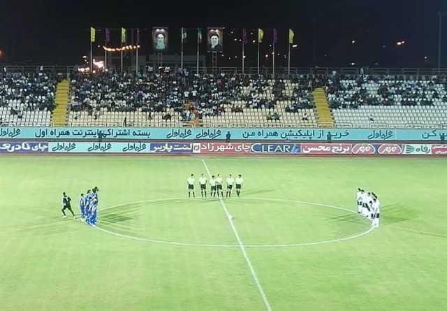 لیگ برتر فوتبال| نیمه نخست جدال قعرنشینان در بوشهر به تساوی انجامید