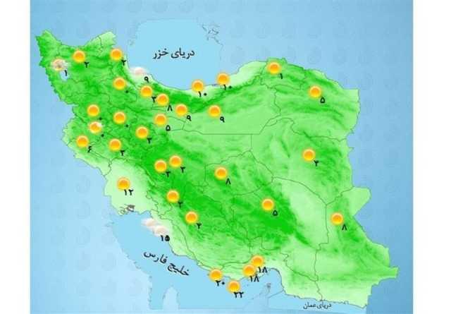 هواشناسی ایران ۱۴۰۰/۰۵/۱۳  هشدار هواشناسی برای ۱۰ استان
