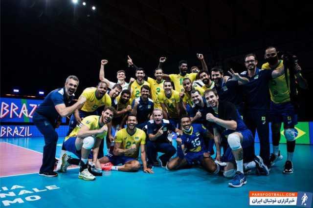 بازیکن والیبال برزیل: هر امتیاز بازی با ایران مهم بود