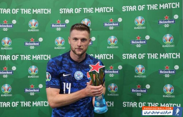 ستاره اسلواکی بهترین بازیکن دیدار با لهستان شد