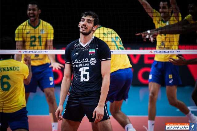 روی نوار باخت؛ والیبال ایران مقابل برزیل هم شکست خورد