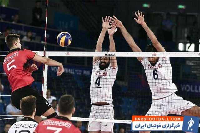 ایران آلمان؛ ملیپوشان والیبال ایران جدال نزدیک ست اول را بردند