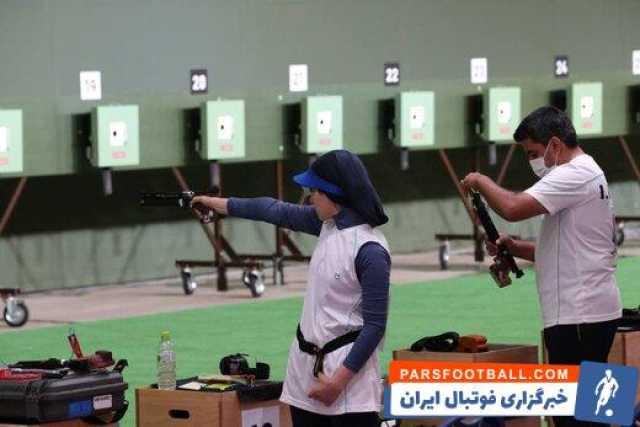 صعود تیم میکس تپانچه بادی ١٠ متر ایران به مرحله نیمهنهایی