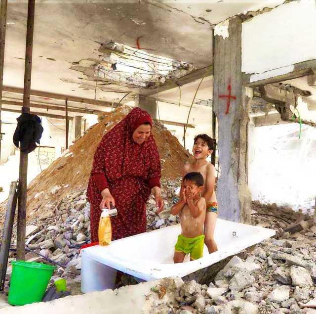 عکسی از کودکان غزه که جهانی شد