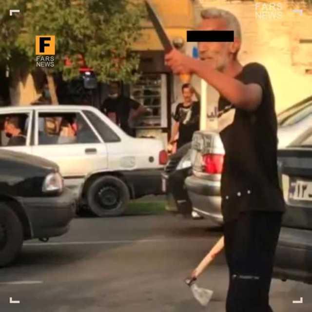 حملهور شدن مرد گرگانی با تبر به رهگذران/ ۱۰ کشته و مجروح +عکس