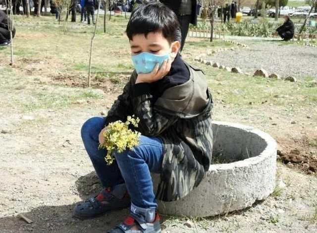 تصویری تلخ از فرزند ۵ ساله محیطبان