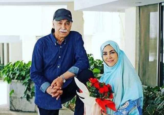 زوج مشهور بازیگر درکنار نوه زیبایشان/ عکس