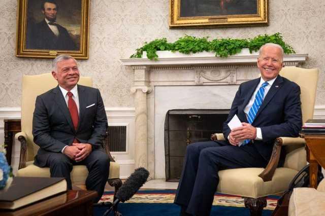 بایدن: به تقویت همکاری ها با اردن ادامه خواهیم داد